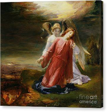 The Agony In The Garden Canvas Print by George Richmond