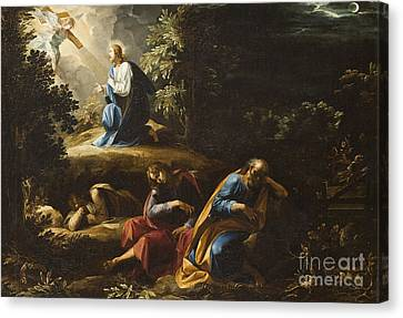 The Agony In The Garden Canvas Print by Guiseppe Cesari