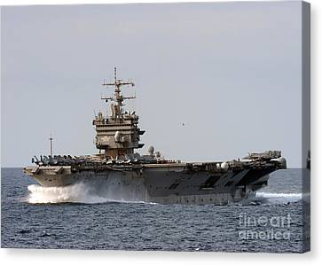 the aircraft carrier USS Enterprise Canvas Print by Celestial Images