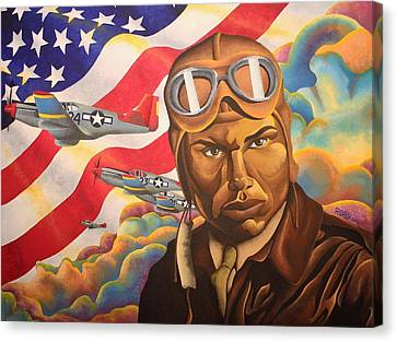 The Airman Canvas Print by William Roby