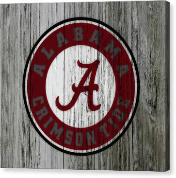 Wooden Bowl Canvas Print - The Alabama Crimson Tide C1             by Brian Reaves