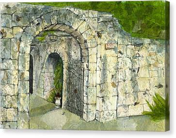 The Alamo Canvas Print by Lynn Babineau