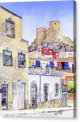 The Alcazaba From La Chanca Almeria Canvas Print