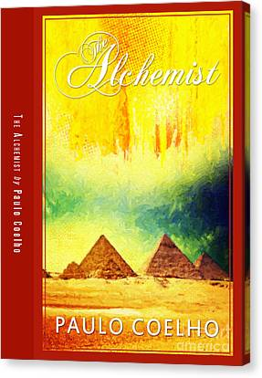 The Alchemist Book Cover Poster Art 3 Canvas Print by Nishanth Gopinathan