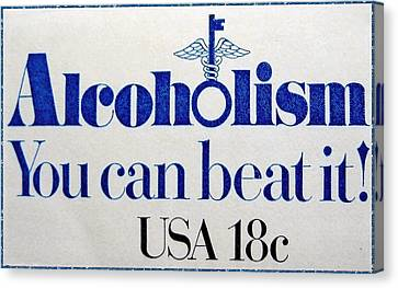 The Alcoholism Stamp Canvas Print