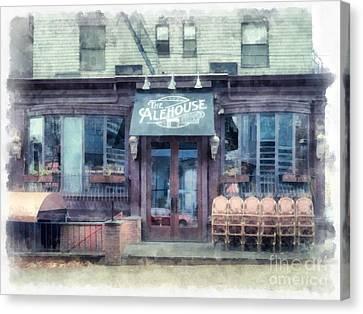 The Alehouse English Cellar Providence Rhode Island Canvas Print by Edward Fielding
