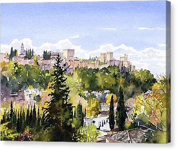 The Alhambra From Sacromonte Canvas Print
