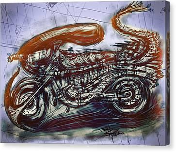 The Alien Bike Canvas Print by Russell Pierce