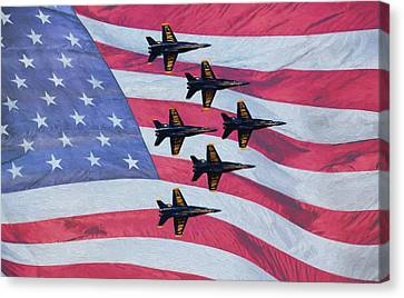 The All American Team Canvas Print by JC Findley
