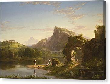 The Allegro Canvas Print by Thomas Cole