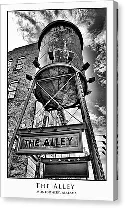 Canvas Print featuring the digital art The Alley  by Greg Sharpe