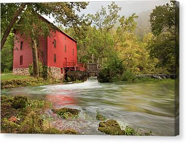 The Alley Spring Mill - Missouri Canvas Print by Gregory Ballos