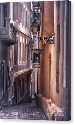 The Alleyways Of San Juan Canvas Print by Mary Lou Chmura