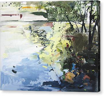 The Alster In High Summer Canvas Print by Calum McClure