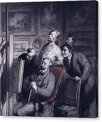 The Amateurs Canvas Print by Honore Daumier