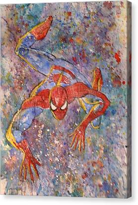 The Amazing Spider Man Canvas Print by Robert Hogg