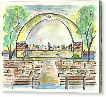 The Amazing Worthington City Band Canvas Print by Matt Gaudian