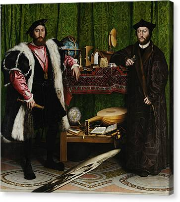 The Ambassadors Canvas Print by Hans Holbein the Younger