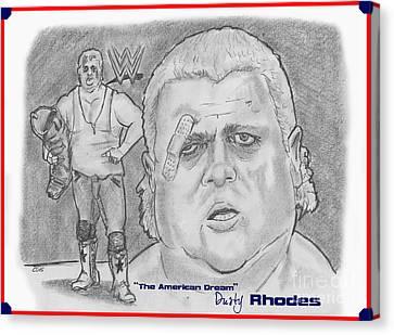 The American Dream Dusty Rhodes Canvas Print by Chris  DelVecchio