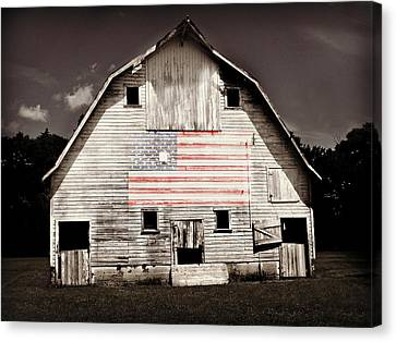 The American Farm Canvas Print by Julie Hamilton