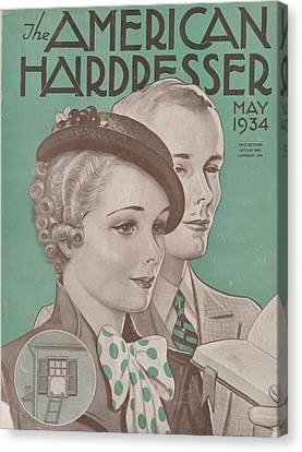 The American Hairdresser May 1934 Canvas Print by Daniel Tanner