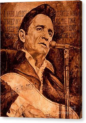 Johnny Cash Canvas Print - The American Legend by Igor Postash