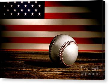 Ballpark Canvas Print - The American Sport by Olivier Le Queinec