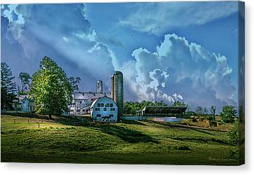 Amish Canvas Print - The Amish Farm by Marvin Spates