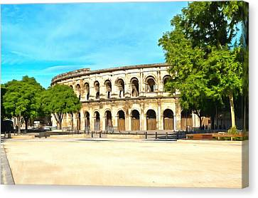 The Amphitheatre Nimes Canvas Print by Scott Carruthers