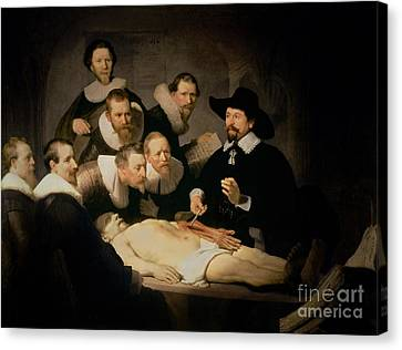 The Anatomy Lesson Of Doctor Nicolaes Tulp Canvas Print by Rembrandt Harmenszoon van Rijn
