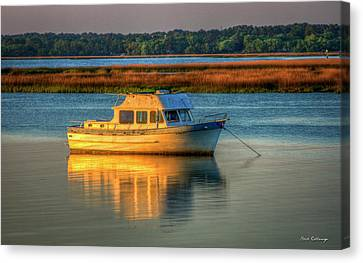 The Anchor Holds Beaufort South Carolina Boat Art Canvas Print by Reid Callaway