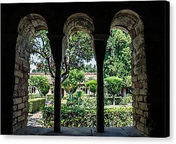 The Ancient Cloister Canvas Print