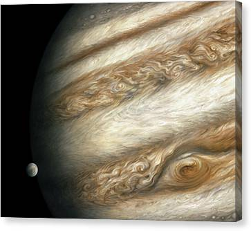 The Ancient Dance Of Europa And Jupiter Canvas Print