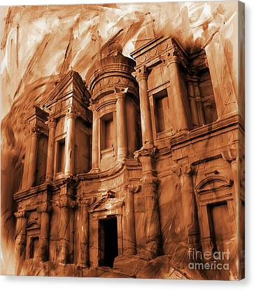 The Ancient Treasury Petra Canvas Print by Gull G