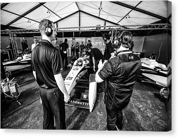 The Andretti Team Canvas Print by Kevin Cable