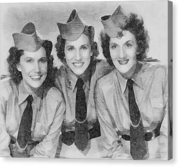 The Andrews Sisters Canvas Print by John Springfield