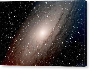 The Andromeda Galaxy Close  Up Canvas Print by Jim DeLillo