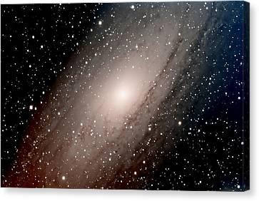 The Andromeda Galaxy Close  Up Canvas Print by Jim DeLillo