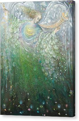 Messenger Canvas Print - The Angel Of Growth by Annael Anelia Pavlova