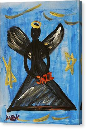 The Angel Of Jazz Canvas Print by Mary Carol Williams