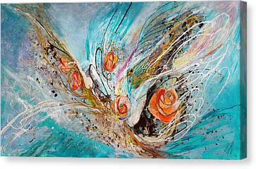 The Angel Wings #10. The Five Roses Canvas Print