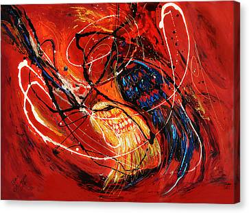 The Angel Wings #2 Duality Of Truth Canvas Print