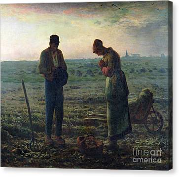 Harvest Canvas Print - The Angelus by Jean-Francois Millet