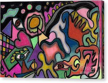 Canvas Print featuring the pastel The Angry Eye by Christine Perry