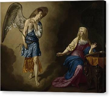 The Annunciation Canvas Print by Adriaen van de Velde