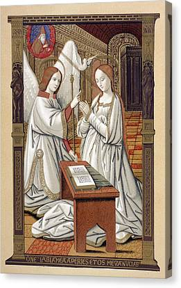 The Annunciation. After A Miniature Canvas Print by Vintage Design Pics
