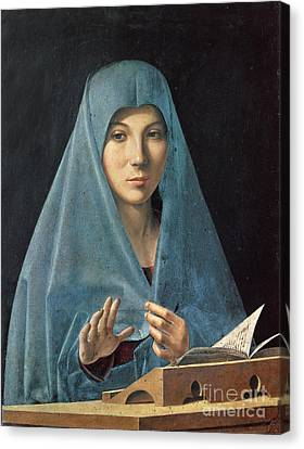 The Annunciation Canvas Print by Antonello da Messina