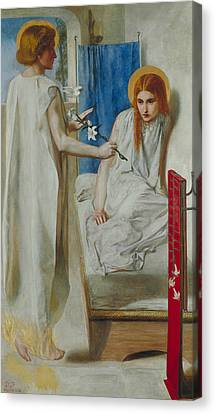 The Annunciation Canvas Print by Dante Gabriel Rossetti