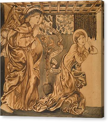 The Annunciation Canvas Print by Edward Burne-Jones