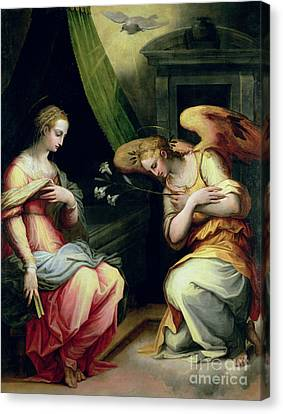 Gabriel Canvas Print - The Annunciation by Giorgio Vasari